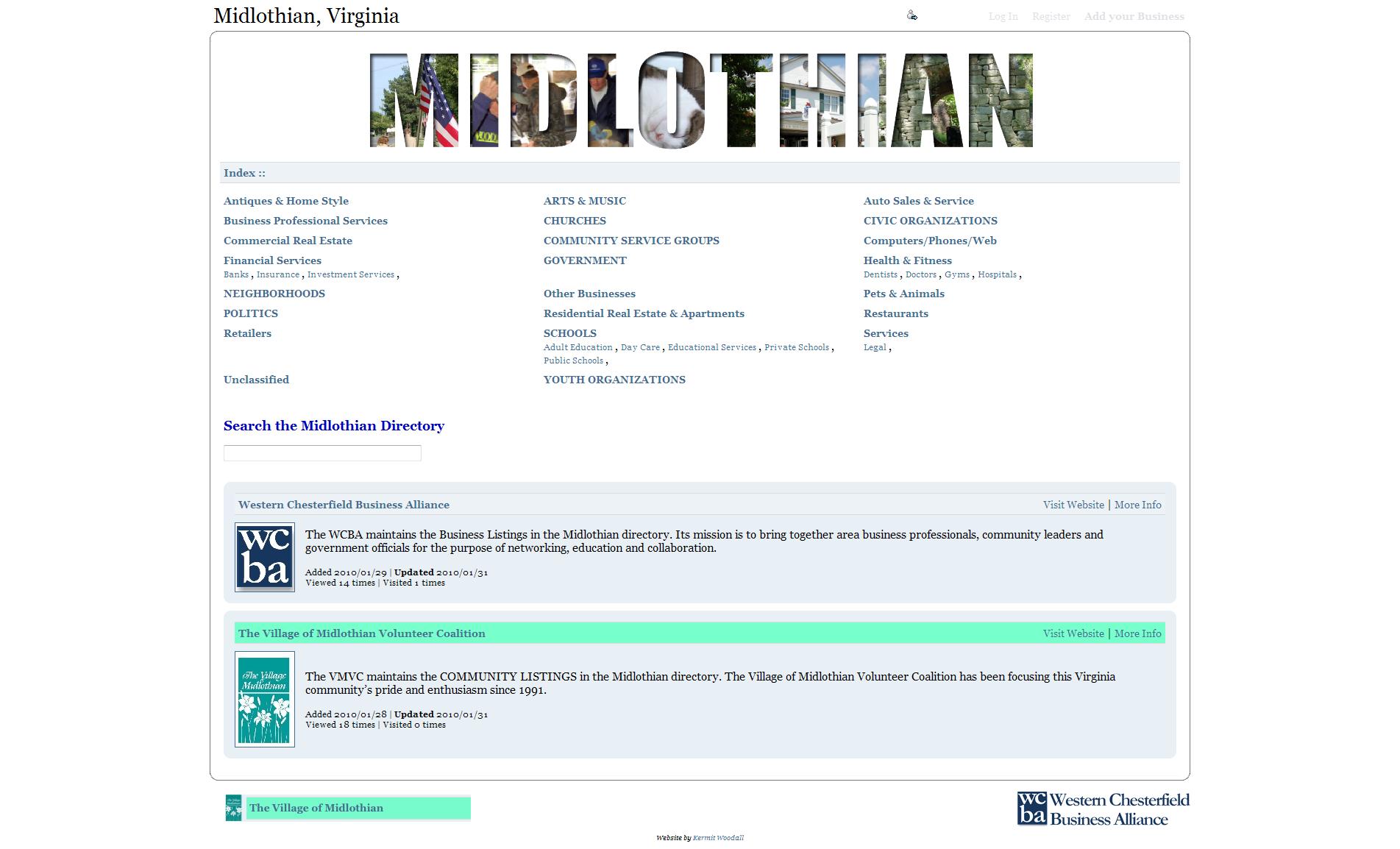 BEFORE-Midlothian Va Directory - Woodall Design, LLC